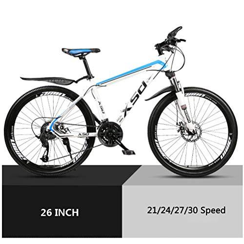 GOLDGOD 26 Zoll Mountainbike, Kohlenstoffreicher Stahl Hardtail MTB Fahrrad Mit Verstellbarem Sitz Und Rutschfester Lenker Doppelte Mechanische Scheibenbremsen Mountain Bike,24 Speed