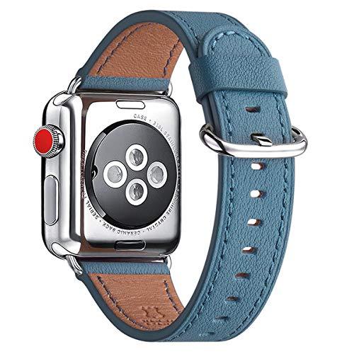 WFEAGL コンパチブル Apple Watch バンド,は本革レザーを使い、iWatch Series 4/3/2/1、Sport、Edition向け...