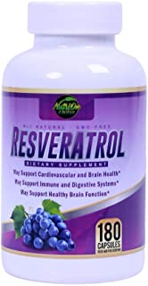 Resveratrol Supplement for Whole Health, 90 Day Supply Antioxidant Capsules Resveratrol 1000mg for Brain Health and Cardio...