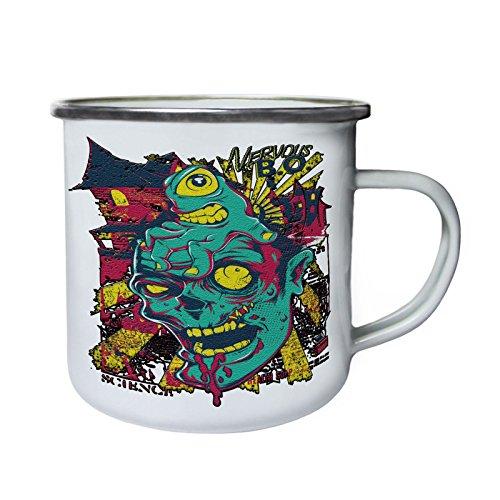 Nerveux Bro Zombie Skull Art Rétro, étain, émail tasse 10oz/280ml z183e