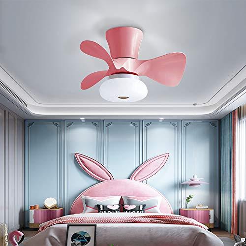 CGXYZ ventilador de techo con luz y mando a distancia, 64 w, función verano/invierno, 3 velocidades, 55 cm de diámetro y 3 aspas, ventilador de techo infantil