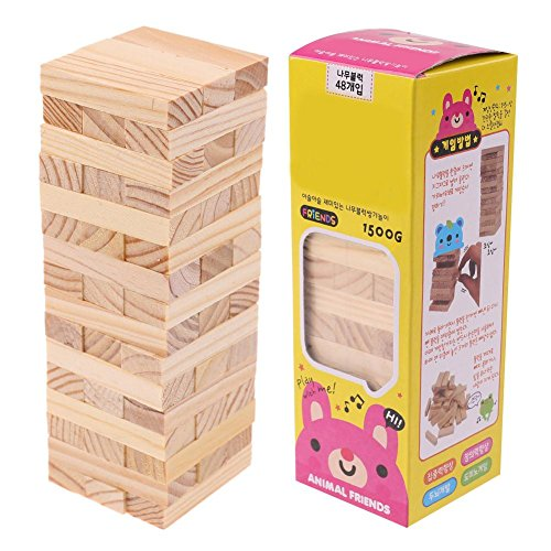 Domybest Puzzle DIY Wood Assembled Building Blocks Toy Kids Educational Toy Gift