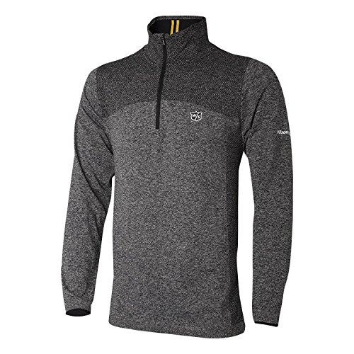 Wilson FG Tour Thermal Tech Camiseta deportiva, Hombre, Poliéster/Nailon/Licra, Gris, Talla: XL,...