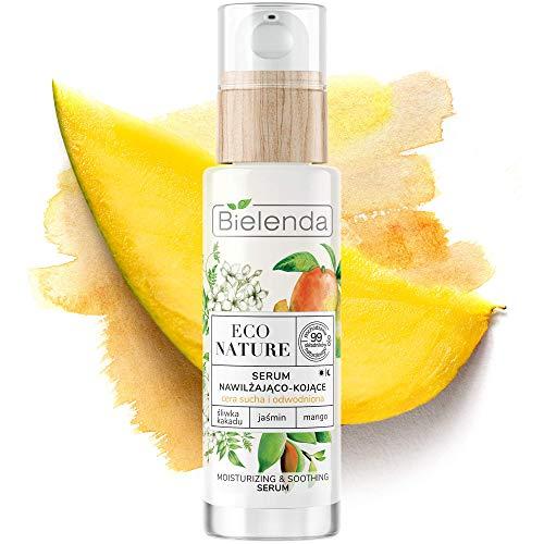 Bielenda Eco Nature - Restores The Hydro Lipidic Balance, Proper Condition And Healthy Look - Eco Nature - Cockatoo Plum + Jasmine + Mango - Face Serum Moisturizing And Soothing - 30 ml
