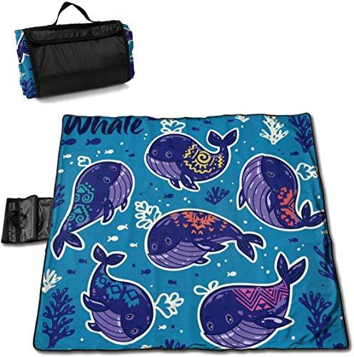 N/A Große wasserdichte Picknickdecke für den Außenbereich, witzige Unterwassermatte Sandfeste Strandmatte für Camping, Wandern, Gras, Reisen