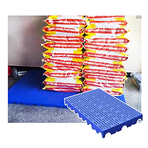 LIANGJUN-Pallet In Plastica, Pallet Leggero, Resistente all'Usura Impermeabile per Supermercato Convenienza Negozio Tappetino Portaoggetti, Altezza 10 Cm (Color : Blue-2pack, Size : 100x60x10cm)