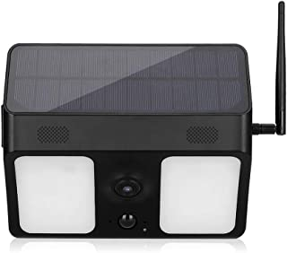 Solar 1080P HD WiFi Waterproof Camera with 40 LED Lights Night Vision Voice Intercom Surveillance System for Outdoor Yard ...