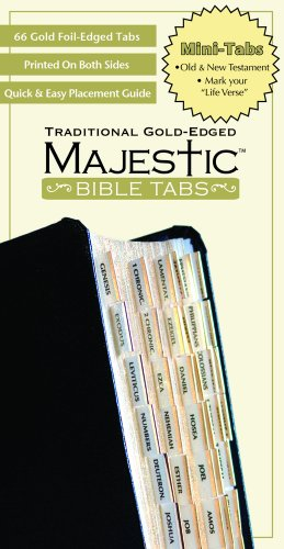 Majestic Traditional Gold Bible Tabs mini (Majestic Bible Tabs (Mini))