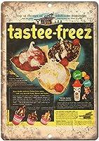 TasteeFreezアイスクリーム 金属板ブリキ看板警告サイン注意サイン表示パネル情報サイン金属安全サイン