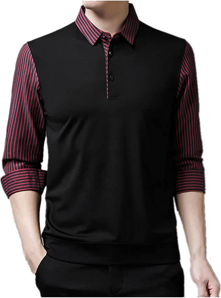 NP C Slim Fit with Pullover Casual Striped Long Sleeve and
