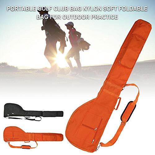 wisedwell Golftasche Golf Stand Bag, Tragbar Nylon Golfschläger Tasche Weiche Faltbare zum Üben im Freien