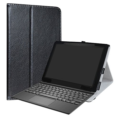 Dell Latitude 5285 Case,LiuShan PU Leather Folio Carring Cover for 12.3' Dell Latitude 5285 (12.3 Inch HD IPS Touch) 2-in-1 Laptop,Black