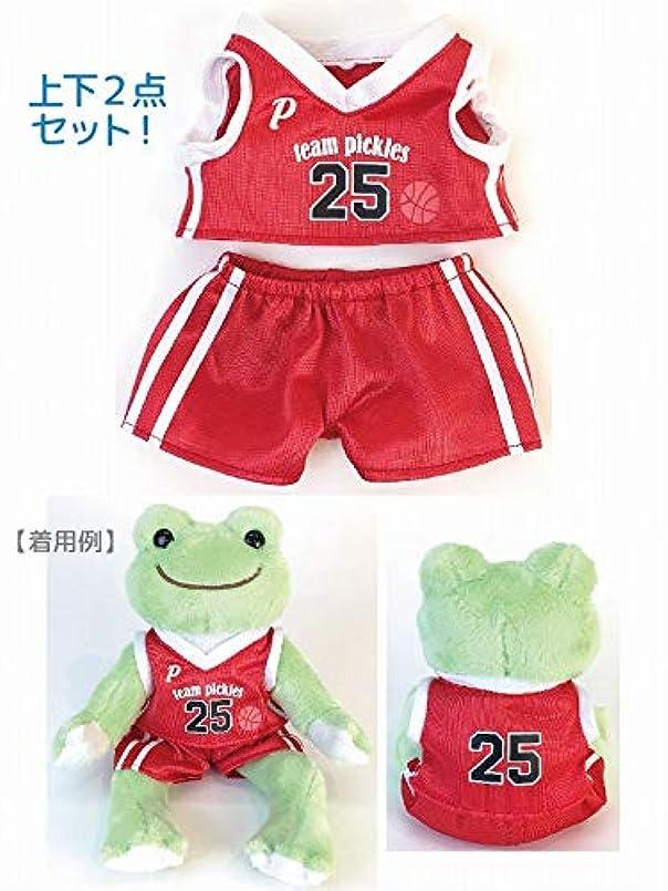 ナカジマコーポレーション(Nakajimacorp) ピクルス スポーツコスチューム バスケ レッド H8×W14×D1㎝ pickles the frog 136039-19