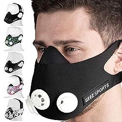 Geez training mask training mask breathing mask training mask sports mask endurance mask fitness mask training mask (black on white)