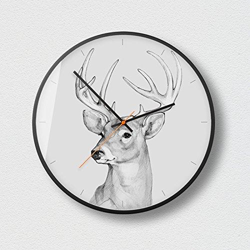 WuuLii Decor Horloge Murale - Horloge Murale Décor - Horloge Décorative pour Salon, Chambre Horloge Murale Silencieuse sans Couturière Art Petit Frais Créatif, 14 Pouces, 04