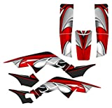 Graphics kit compatible with Honda TRX250R 1986-1989 Fourtrax #3737 (Red)