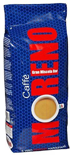 Moreno Espresso Gran Miscela Bar 1 Kg ganze Bohne -bestens für Siebträgermaschinen