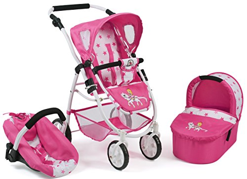 Bayer Chic 2000 637 89 Kombi-Puppenwagen Emotion 3 in 1 All In, Pony & Princess