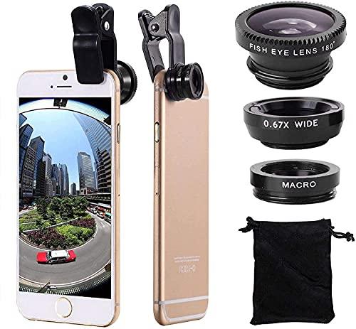 3 in 1 lente grandangolare di Fisheye del corredo della lente della macchina fotografica del telefono cellulare