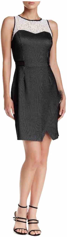 Kensie Women's Sleeveless Lace Trim Dress