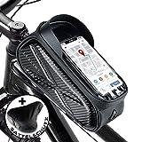 LEXLIME   Rahmentasche Fahrrad − wasserdichte Fahrradtasche Lenker − Fahrradhalterung Handy Oberrohrtasche − Fahrradtasche Rahmen + Regenschutz - Fahrradrahmen Tasche