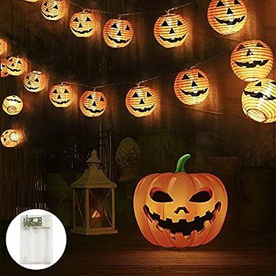 Halloween Pumpkin Lanterns String Lights - Batt...