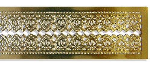 Walter Kunze diseño Dresden guarnecido frontera tiras de corazón, dorado, 7/8-inch