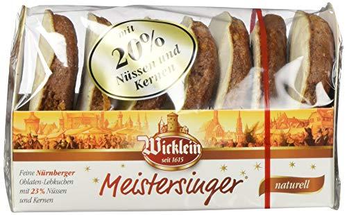 """Wicklein Feine Nürnberger \""""Meistersinger\"""" Oblaten-Lebkuchen, naturell, 7er-Pack (7x200g)"""