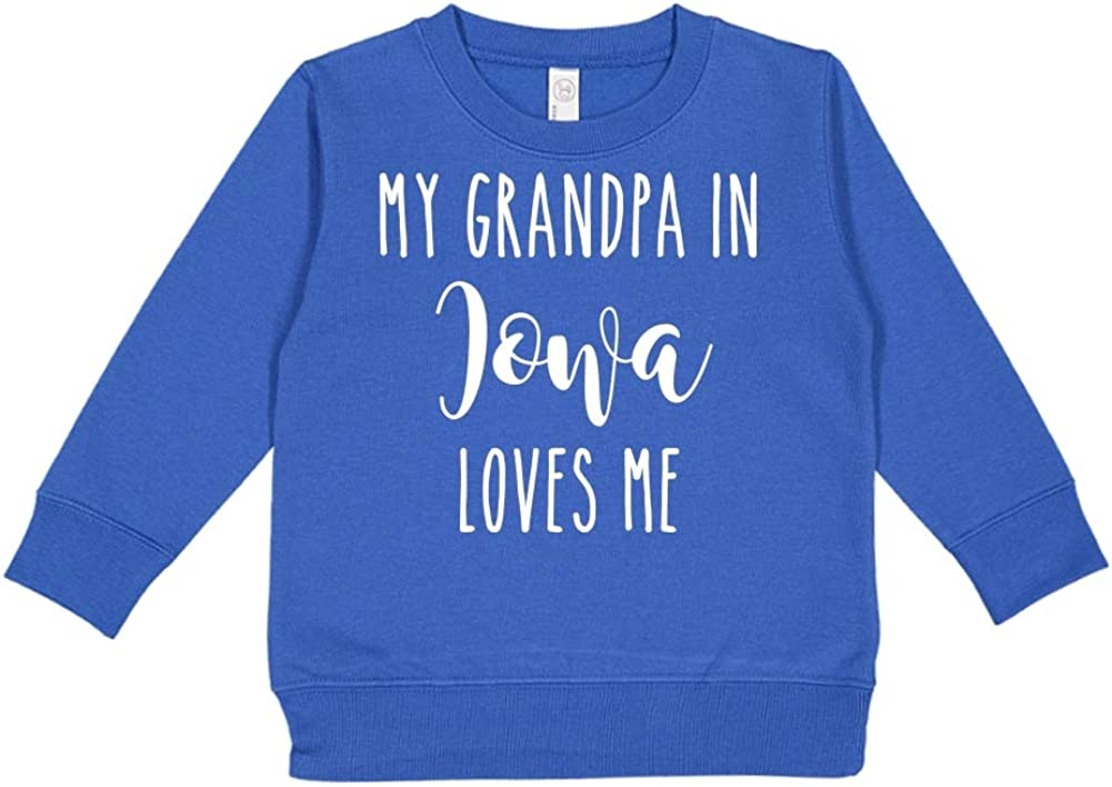 My Grandpa in Iowa Loves Me Toddler//Kids Sweatshirt