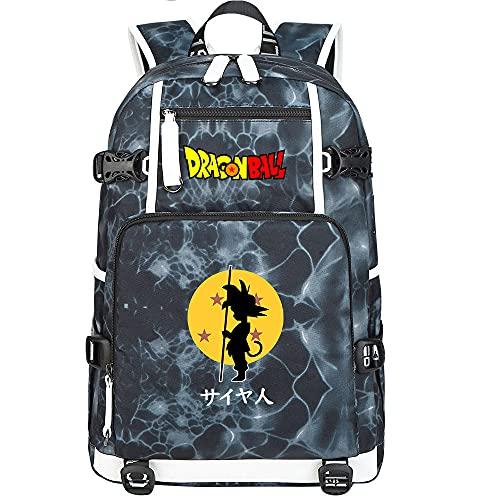 ZZGOO-LL Dragon Ball Son Goku/Vegeta IV/Torankusu Bolsa de Hombro Mochila para Exteriores para un montón de Almacenamiento Bolsa USB Unisex-H