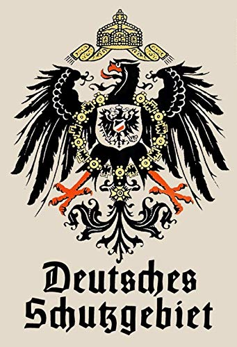 FS Wappen Deutsches Schutzgebiet Adler Blechschild Schild gewölbt Metal Sign 20 x 30 cm