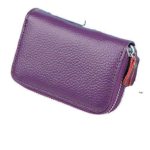 sistersfashion Cartera popularidad ranking cremallera monedero llavero señoras llavero doble bloqueo llavero (púrpura, vertical 7.5 x horizontal 11 x enchufe 4)
