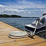 SGT KNOTS Double Braid Nylon Dockline (2-Pack, Black) - Braided Nylon Rope Docklines - Marine Ropes for Boat/Boats…