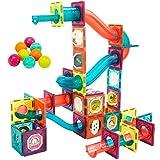 3D Magnetic Tiles Blocks Toys for Kids Ages 4-8-12, Building Marble Run Balls Track Educational Kids Toys for Children 3 5 6 7 8 10 Year Old Boys Girls STEM Birthday Gifts for Preschool 101PCS