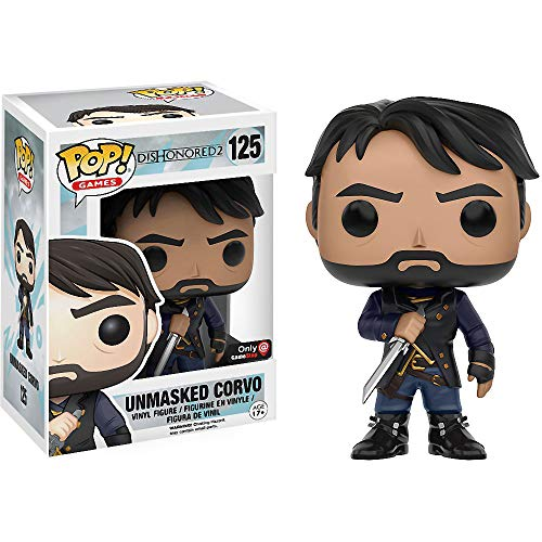 Funko Unmasked Corvo (GameStop Exclusive): Dishonored 2 x POP! Games Vinyl Figure + 1 Video Games Themed Trading Card Bundle [#125 / 11409]
