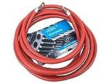 eXODA Cable de batería de 200cm 25 mm² Cobre Cable de alimentación con Ojales M8 Rojo 12 V Cable para automóvil también para su Cargador