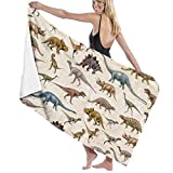 Yuanmeiju 32 X 52 Inch High Absorbency Bath Towel Dinosaur Animal Tail Lightweight Large Bath Sheet for Beach Home SPA Pool Gym Travel