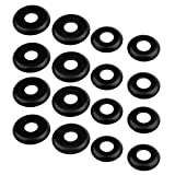 trucks washer - Dovewill 16 Pieces Thickened Replacement Longboard/Skateboard Truck WASHERS - Black