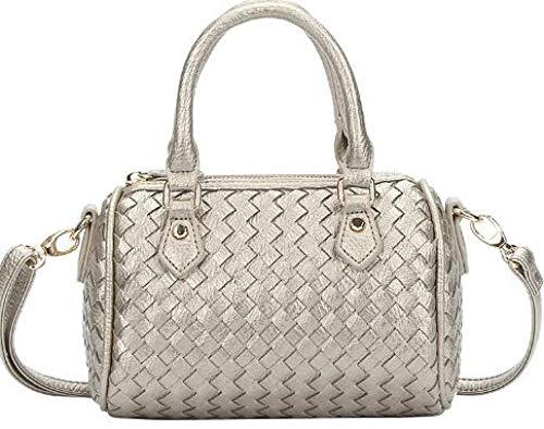 TESSSAR Borsa bauletto in tessuto classico di buona qualità, borsa a cuscino, borsa in pelle, borsa intrecciata a mano, borsa a tracolla da donna.
