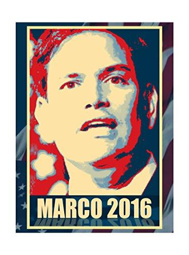 Hat Shark Marco Rubio Vinyl Print Poster - 18x24 2016 - Presidential Candidate Design