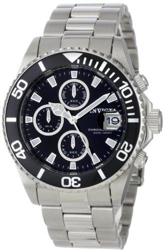 Invicta Herren-Armbanduhr XL Chronograph Quarz Edelstahl 1003