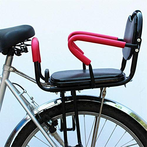 Travel Pillows Bicycle Child Seat, Bicycle Rear Child Safety Seat, Detachable Armrest and Foot Pedal Padded Cushion, Suitable for Children from 2 to 6 Years Old (with Seat Belt)