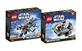 Lego Star Wars Micro Fighters Juego–First 75126Order snowspeeder con Snow de Trooper + 75125X-Wing Confidential Hero Star Fighter con Pilot
