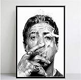 KELDOG Kunst Poster Drucke Sylvester Stallone Rauchen