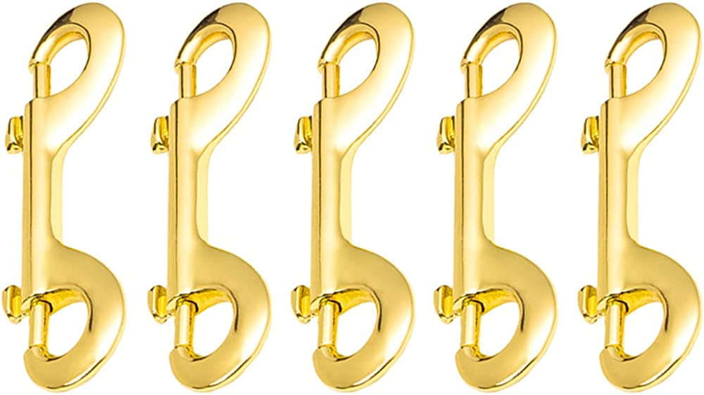 Xihuimay Pack of 5 Double Ended Bolt Snap Alloy Zinc 3.5