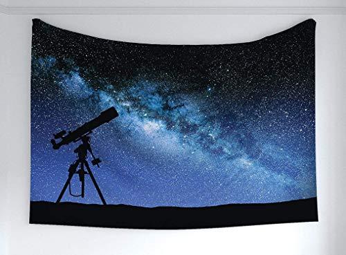 Romance-and-Beauty Galaxy Tapisserie, Teleskop-Tal unter Sternenhimmel Milchstraße Atmosphäre Galaxie Astronomie, Stoff Wandbehang Dekor für Schlafzimmer Wohnzimmer Wohnheim 60 x 40 Inch