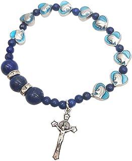 BMBN Religieuze Cross Armband, Religieuze Cross Armband Eenvoudige Christelijke Katholieke Emaille Cross Armband Dames Pra...