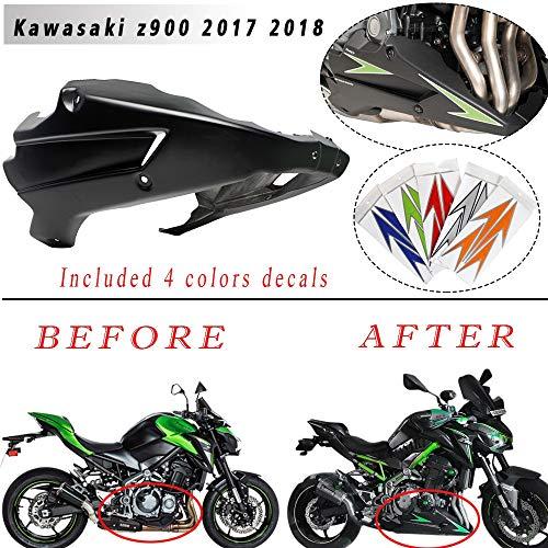 LIWIN Motorradzubehör Motorrad-Z900 Bugspoiler Bugspoiler Motorspoiler Verkleidungs ABS Plastik Körperrahmen Kit Lower Panel for Kawasaki Z 900 2017 2018