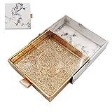HBZGTLAD NEW 10/pack wholesale false eyelash packaging box lash boxes fake 3d mink lash extension strip square magnetic case (D-014)