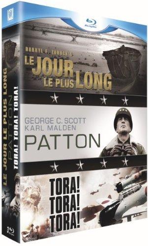 Guerre - Coffret 3 films : Le jour le plus long + Patton + Tora ! Tora ! Tora ! [Blu-ray]